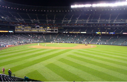 A baseball field is an example of a plane.